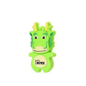 """Подарочная USB-флешка 4 Gb Mirex DRAGON GREEN, """"зеленый дракон"""""""