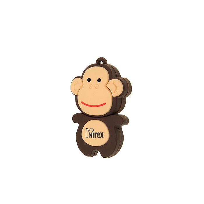 """Подарочная USB-флешка 4 Gb Mirex MONKEY BROWN, """"обезьянка"""""""