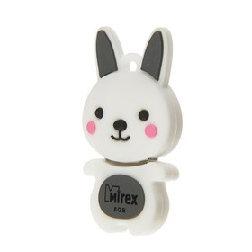 "Подарочная USB-флешка 8 Gb Mirex RABBIT GREY, ""кролик"""