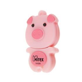 "Подарочная USB-флешка 16 Gb Mirex PIG PINK, ""свинка"""