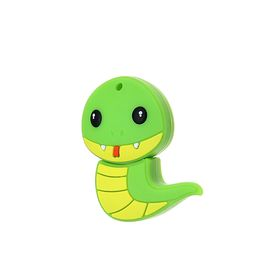 "Подарочная USB-флешка 16 Gb Mirex SNAKE GREEN, ""зеленый дракон"""