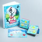 """Подарочный набор: фотоальбом на 36 фото и памятные коробочки """"Наш любимый сыночек"""", 101 Далматинец, Дисней Беби"""