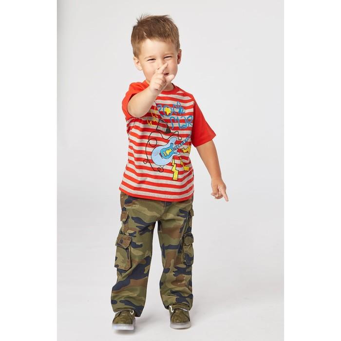 Футболка для мальчика, рост 104 см, цвет красный