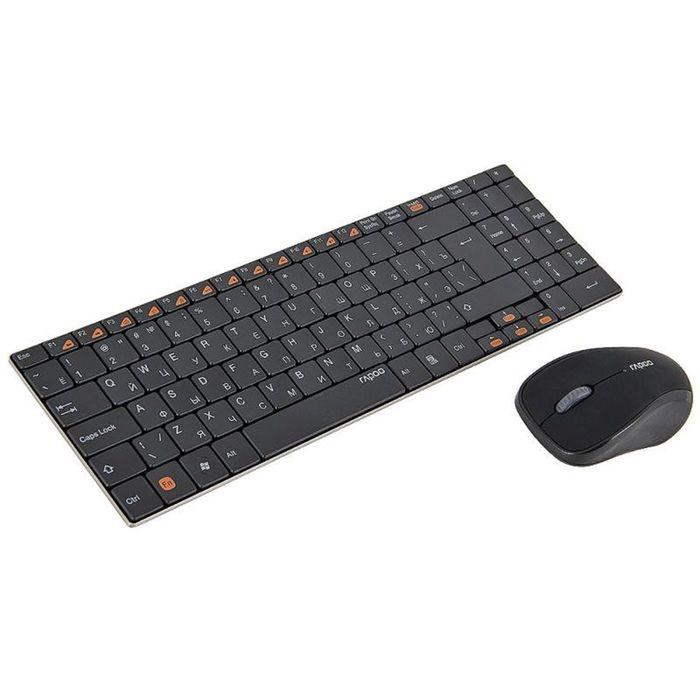 Комплект Rapoo 9060, клавиатура+мышь, черный, USB