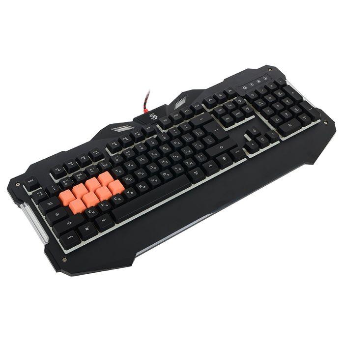 Клавиатура A4Tech Bloody B328, игровая, проводная, мембранная, подсветка, USB, черная