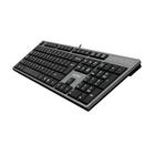 Клавиатура A4Tech KD-300, проводная, мембранная, 104 клавиши, USB, серо-черная