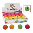 Игрушка для собак Мяч резиновый с бубенцом шипованный, диам.5 см, цвет в ассорт.