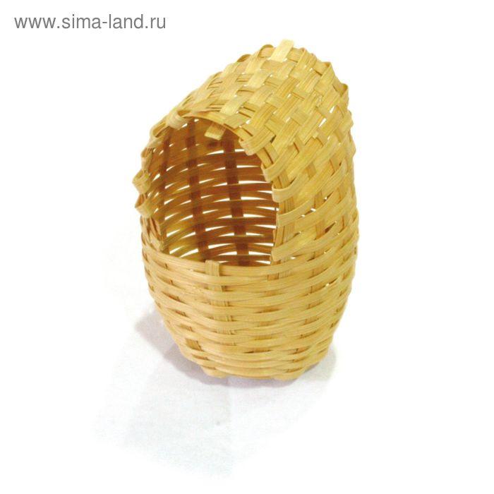 """Гнездо плетеное для птиц """"Кокон"""", 8х9.5х12 см"""