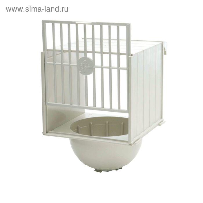 Домик для витья гнезда, выносной, 12х12х17 см, пласт.