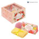 """Набор в подарочной коробке """"Мамочке!"""": морская соль 150 г (роза), бурлящий шар (роза), полотенце (20х20)"""