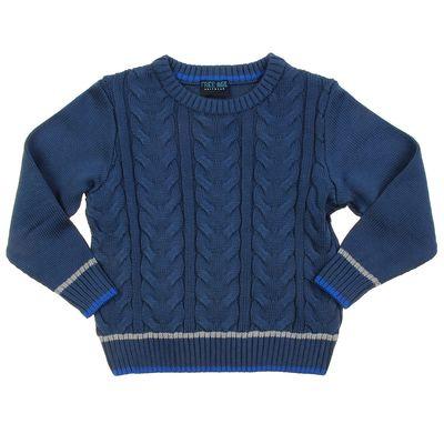 Джемпер для мальчика, рост 122 см (64), цвет тёмно-синий