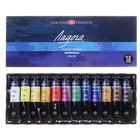 Набор художественных акриловых красок «Ладога»,12 цветов, 18 мл, в тубе