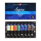 Набор художественных акриловых красок «Ладога», 8 цветов, 18 мл, в тубе