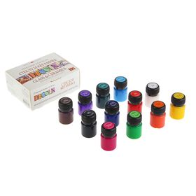 Набор красок по стеклу и керамике Decola, 12 цветов, 20 мл
