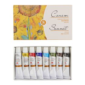 "A set of artistic oil paints ""Sonnet"", 8 colors, 10 ml, in tubes."