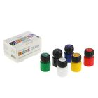 Краска для ткани акриловая набор 6 цветов 20 мл ЗХК Decola 4141025