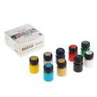 Набор акриловых красок для ткани Decola, 9 цветов, 20 мл