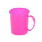 Кружка «Радуга» 180 мл, детская, пластиковая, цвет розовый