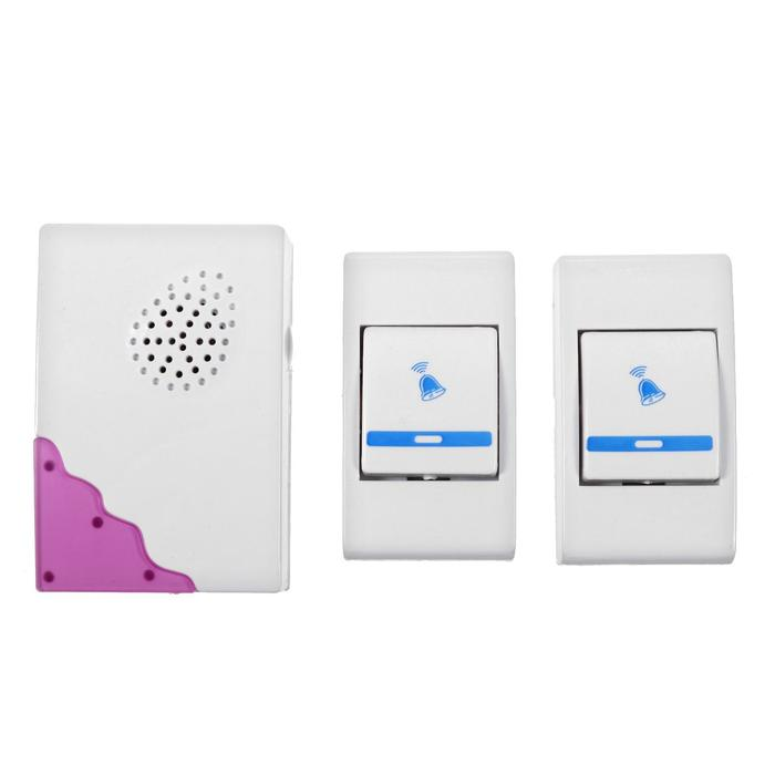 Беспроводной дверной звонок LuazON LZDV-02-02, 2 кнопки, МИКС