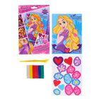 """Аппликация пластилином """"Настоящей принцессе"""", Принцессы: Рапунцель, 6 цв. пластилина по 10 гр, 3D элементы, A5"""
