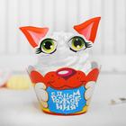 """Украшение для кексов """"Котёнок"""", набор: 6 корзиночек, картонные элементы"""