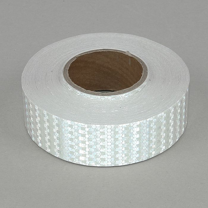 Светоотражающая контурная клейкая лента, белая, 5 см х 45 м