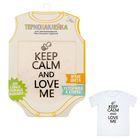 """Термонаклейка для декорирования текстильных изделий """"Keep calm and love me"""", 14 х 14 см"""