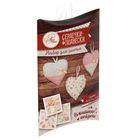 Мягкая игрушка «Сердечки – подвески», набор для шитья, 18 × 11,5 × 2,5 см