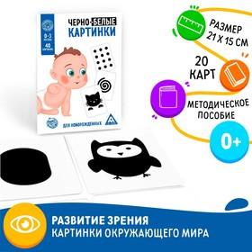 Развивающая игра «Черно-белые картинки» для новорождённых
