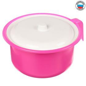 Горшок детский с крышкой, цвет розовый перламутр