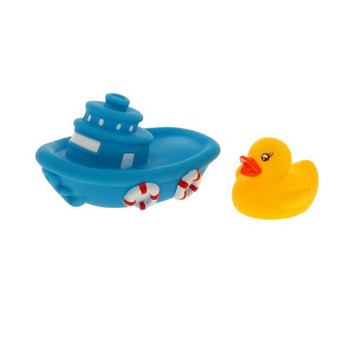 Набор игрушек для ванны «Лодка с утёнком», 2 шт.