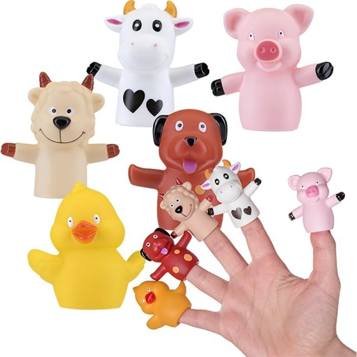 Игрушки на пальчики «Весёлая ферма», 5 шт.