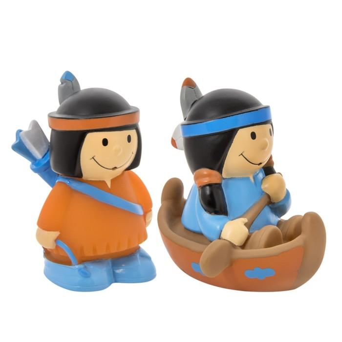 Набор игрушек-брызгалок для ванны «Индейцы», 2 шт.