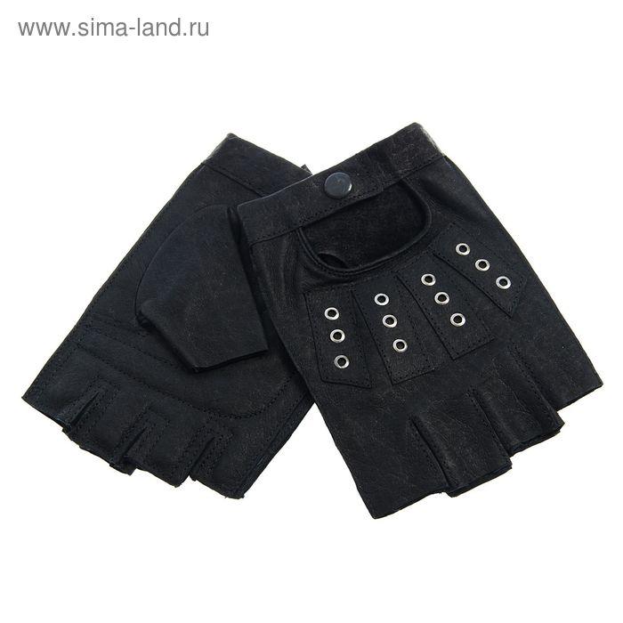 Перчатки мужские, модель №523-95у, материал - кожа свиная, без подклада, р-р 22, чёрные
