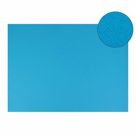 Картон цветной, двусторонний: текстурный/гладкий, 700 х 500 мм, Sadipal Fabriano Elle Erre, 220 г/м, лазурный Azzurro