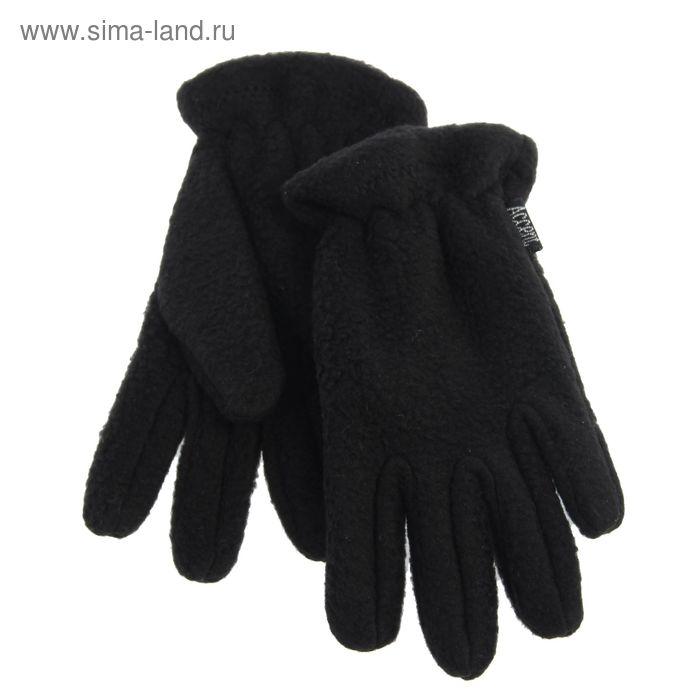 Перчатки детские, модель №1137б, без подклада, р-р 13, 2-3 года, чёрные