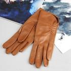 Перчатки женские, модель №119Р, материал - овчина, без подклада, р-р 17, коричневые