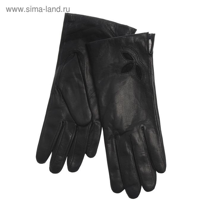 Перчатки женские, модель №148у, материал - козлина, без подклада, р-р 18, чёрные