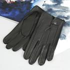 Перчатки мужские, модель №19у, материал - козлина, без подклада, р-р 22, чёрные