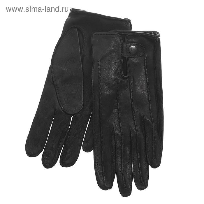 Перчатки мужские, модель №19у, материал - козлина, без подклада, р-р 23, чёрные