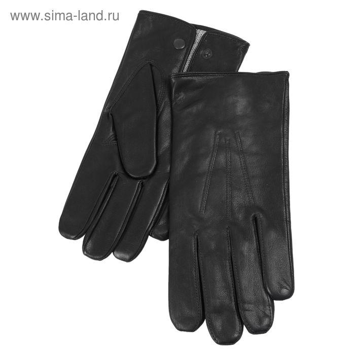 Перчатки мужские, модель №205, материал - козлина, подклад полушерстяной, р-р 24, чёрные