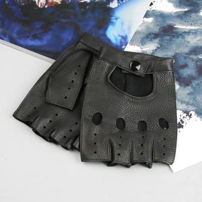 Перчатки мужские, модель №264б, материал - кожа оленя, без подклада, р-р 25, чёрные