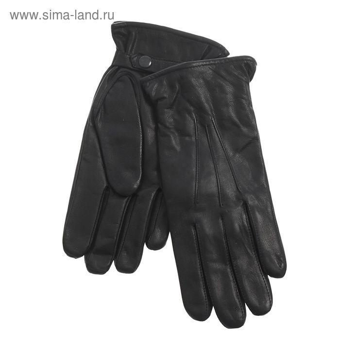 Перчатки мужские, модель №280-94, материал - козлина, подклад полушерстяной, р-р 25, чёрные