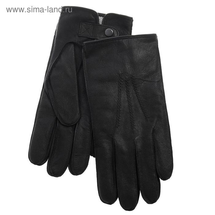 Перчатки мужские, модель №317, материал - козлина, подклад - трикотаж, р-р 20, чёрные