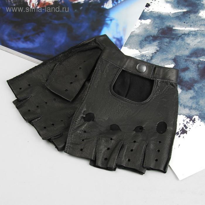 Перчатки автомобилиста, материал - козлина, без подклада, р-р 23, чёрные