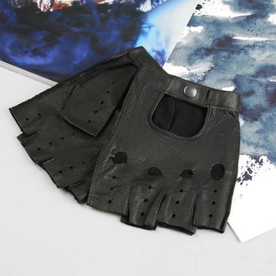 Перчатки мужские, модель №31а, материал - козлина, без подклада, р-р 20, чёрные