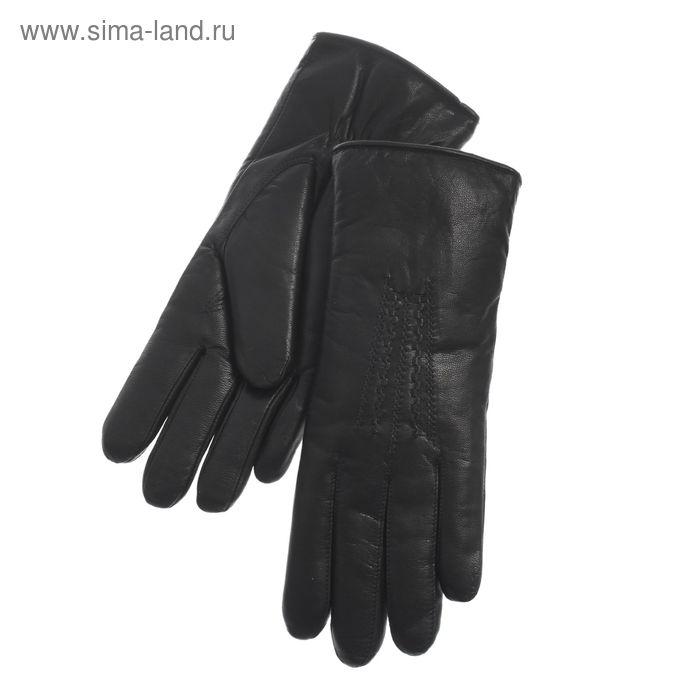 Перчатки женские, модель №365, материал - козлина, без подклада, комбинированные, р-р 22, чёрные