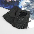 Перчатки мужские, модель №615у, материал - кожа КРС, без подклада, р-р 22, чёрные