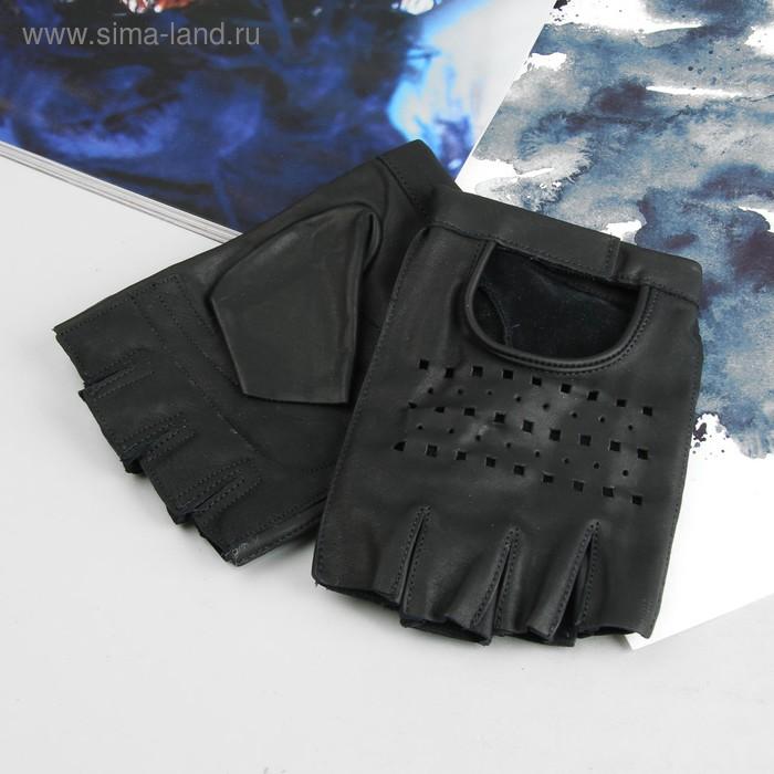 Перчатки мужские, модель №615у, материал - кожа КРС, без подклада, р-р 23, чёрные