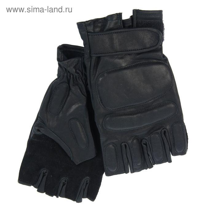 Перчатки мужские, модель №682у, материал - кожа КРС, без подклада, р-р 24, чёрные